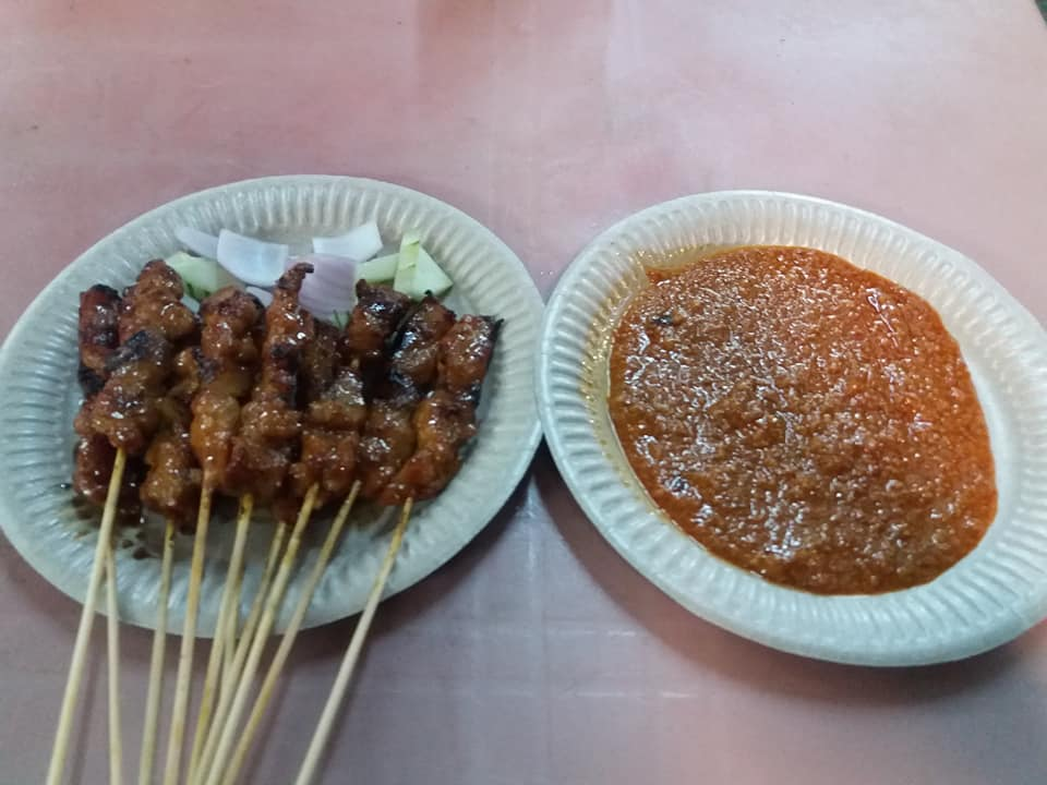 Pork satay, Kimberley night market, George Town.
